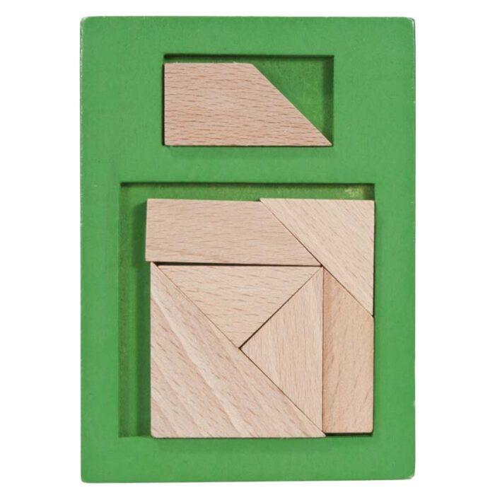 Дървен пъзел IQ-Test Extra Piece Зелен