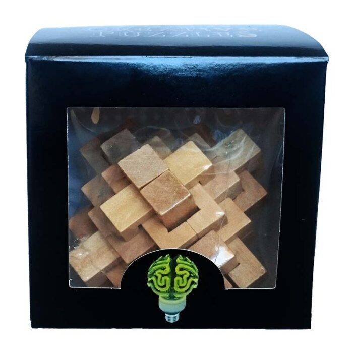 Дървен пъзел Pineapple World Creative Puzzles кутия лице