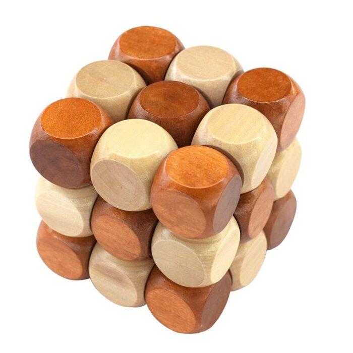 Дървено кубче Smake Cube 3x3x3