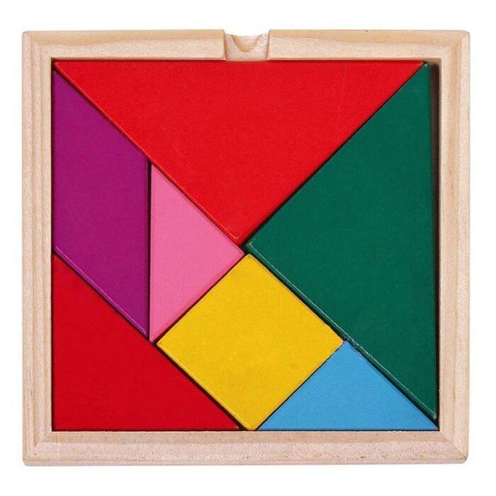 Дървен танграм Woodem Tangram 7 елемента
