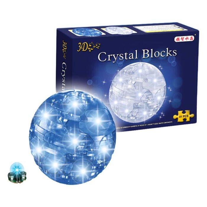 Кристален 3D пъзел Crystal Blocks Earth Земно кълбо