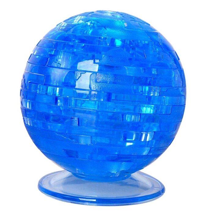 Кристален 3D пъзел Crystal Blocks Earth Земно кълбо синьо