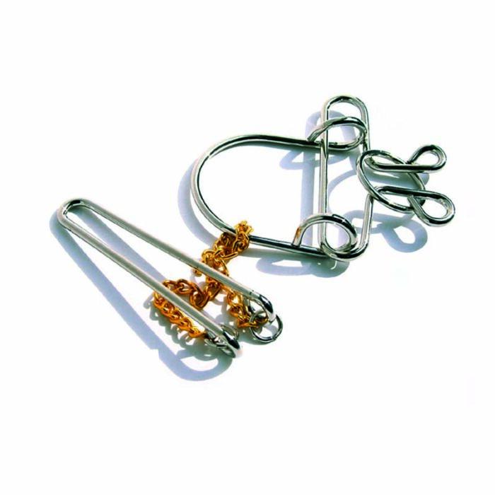 Логически метален пъзел 3 Wire Racing Puzzle Eureka 3D Puzzles