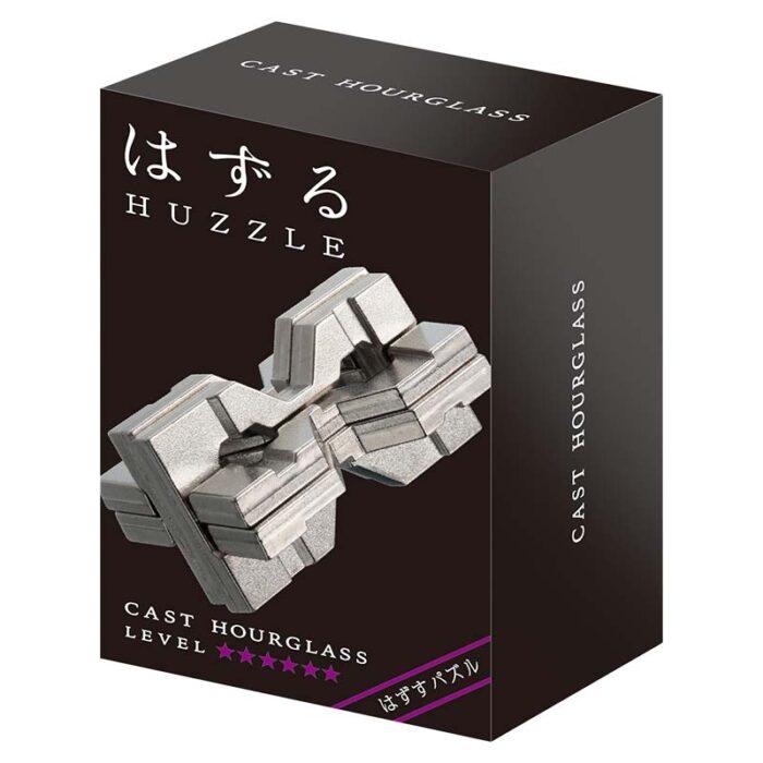Логически метален пъзел Hourglass Cast Huzzle кутия