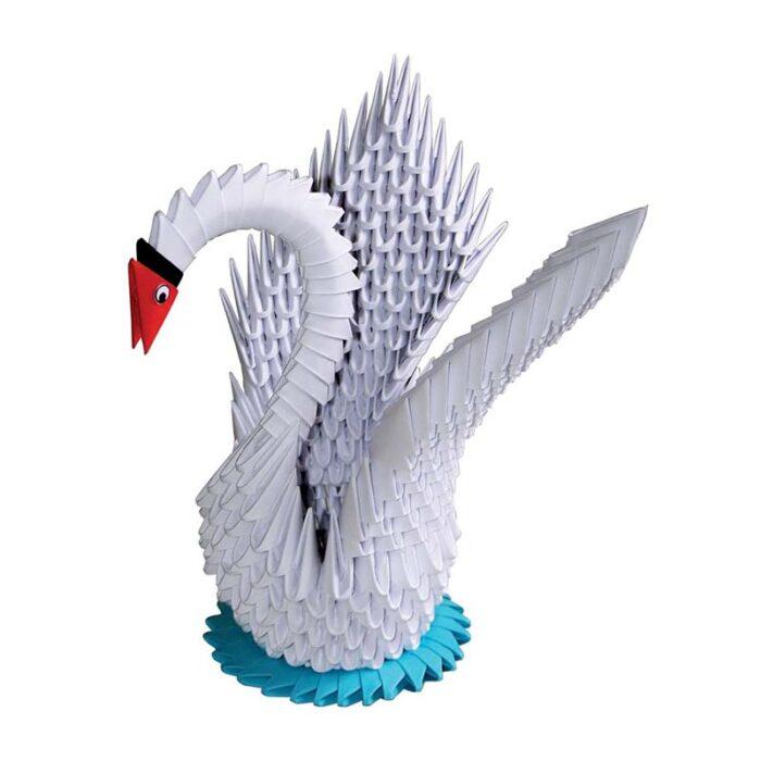 Модулно оригами Бял Лебед Modular Origami White Swan