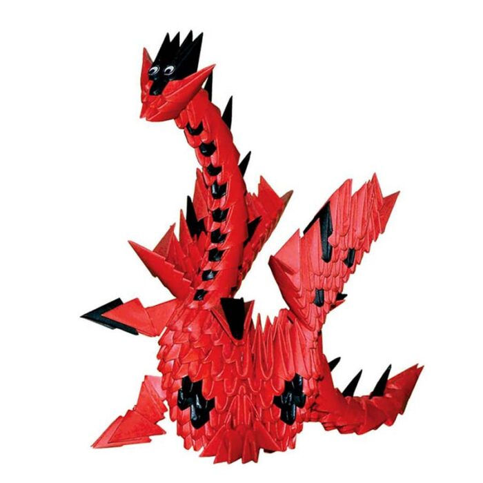 Модулно оригами Червен дракон Modular Origami Red dragon