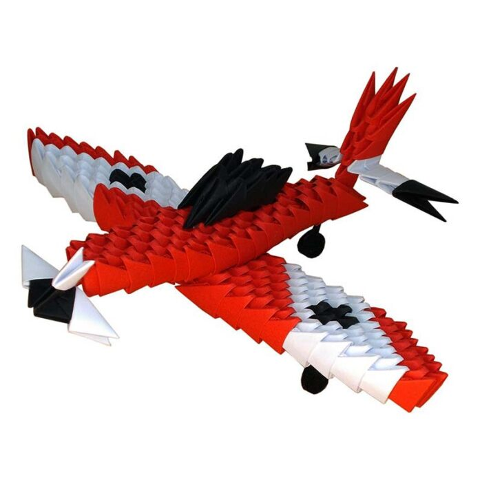 Модулно оригами Червен Самолет Modular Origami Red Plane