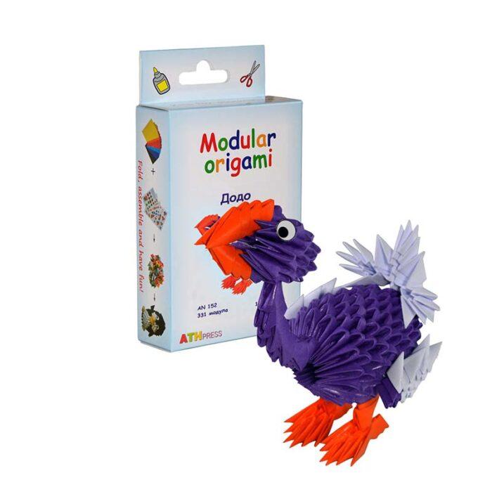 Модулно оригами Додо Modular Origami Dodo кутия и додо
