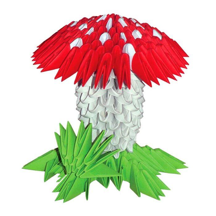 Модулно оригами Гъба Modular Origami Mushroom гъба
