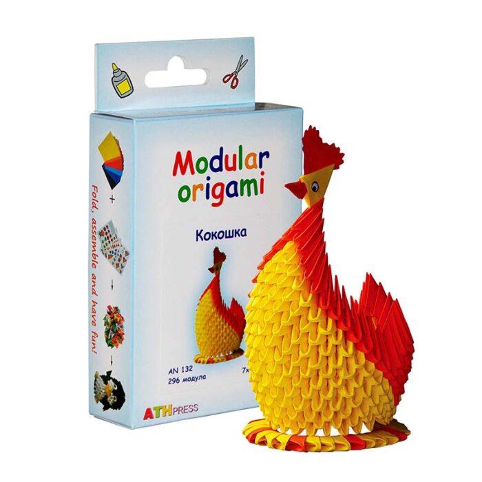 Модулно оригами Кокошка Modular Origami Chicken кокошка и кутия