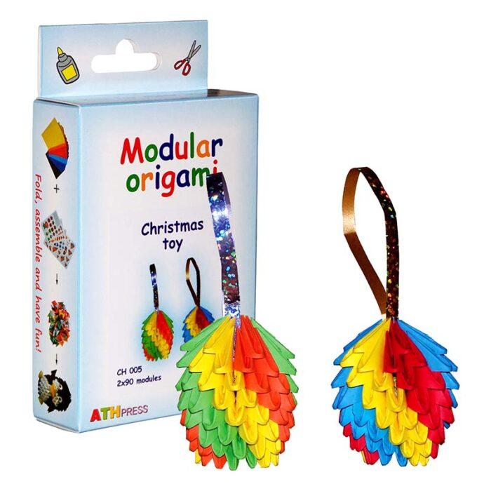 Модулно оригами Коледна играчка Modular Origami Christmas Toys куитя и коледна играчка