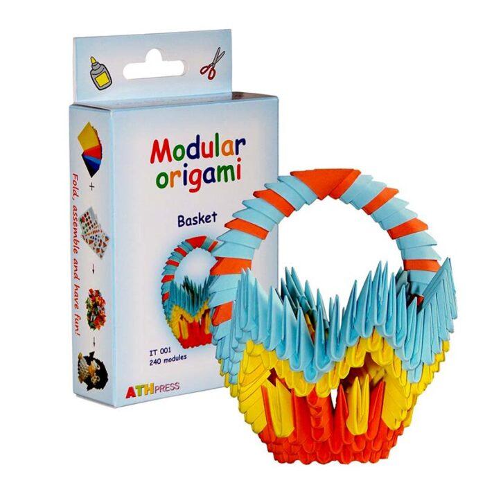 Модулно оригами Кошница Modular Origami Basket кутия и кошница