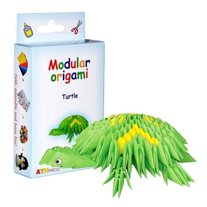 Модулно оригами Костенурка Modular Origami Turtle кутия и костенурка