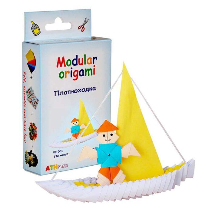 Модулно оригами Платноходка Modular Origami Boat