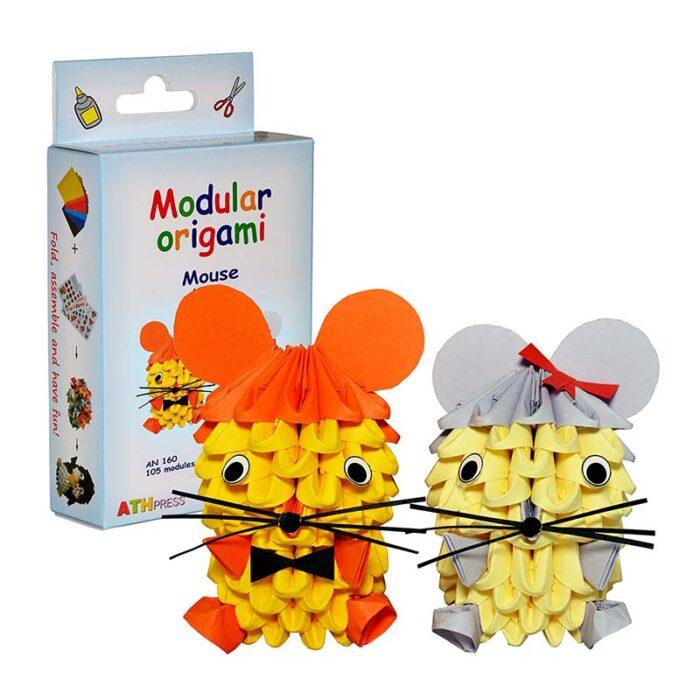 Модулно оригами Мишле Modular Origami Mouse кутия и мишле