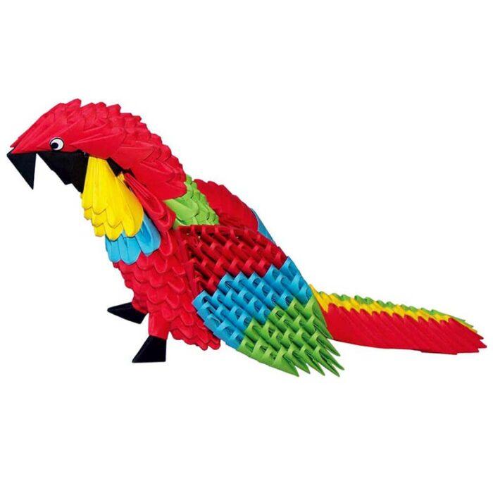 Модулно оригами Папагал Modular Origami Parrot