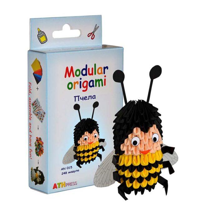 Модулно оригами Пчела Modular Origami Bee кутия и пчела