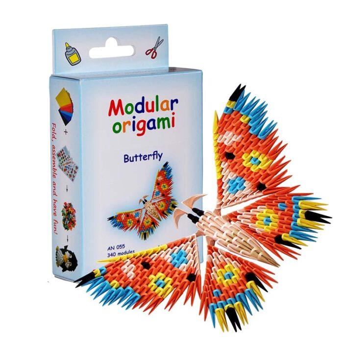 Модулно оригами Пеперуда Modular Origami Butterfly кутия и пеперуда