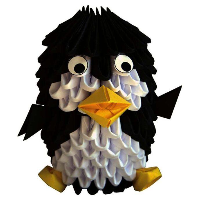 Модулно оригами Пингвин Modular Origami Penguin