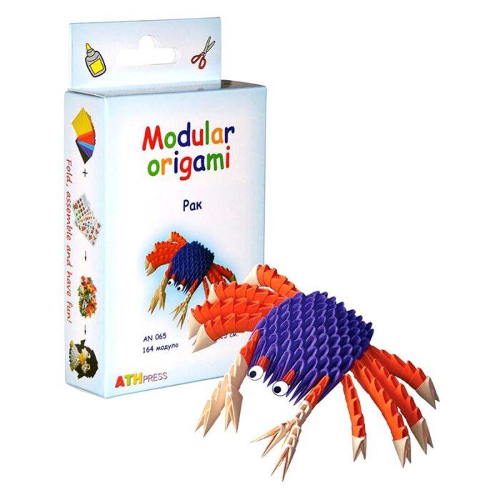 Модулно оригами Рак Modular Origami Crab кутия и рак