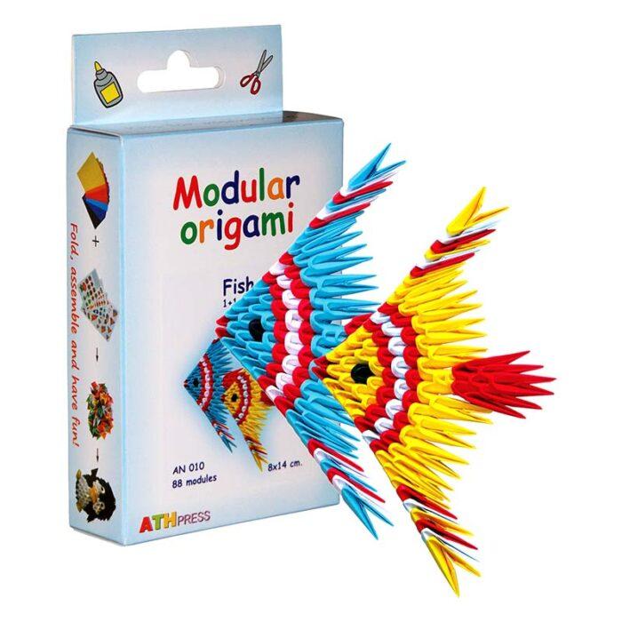 Модулно оригами Рибки Modular Origami Fish куитя и рибки