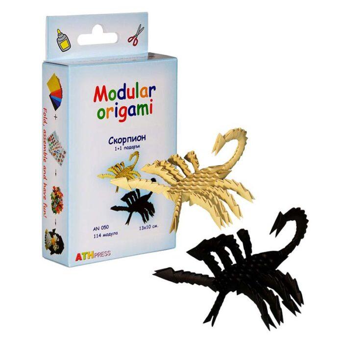 Модулно оригами Скорпион Modular Origami Scorpion куитя и скорпион