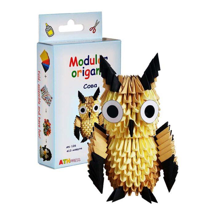 Модулно оригами Сова Modular origami owl кутия и сова