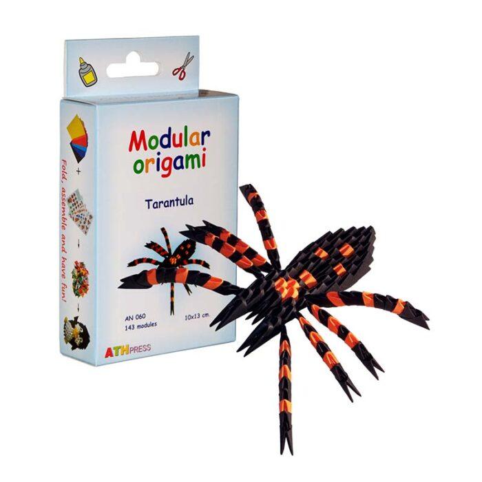 Модулно оригами Тарантула Modular Origami Tarantula кутия и тарантула