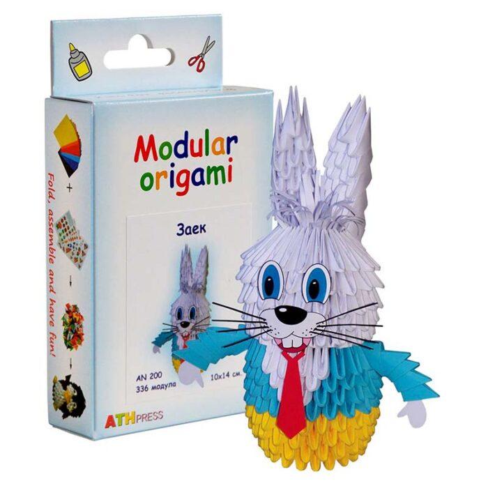 Модулно оригами Заек Modular Origami Rabbit кутия и заек