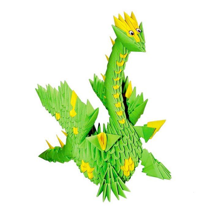 Модулно оригами Зелен Дракон Modular Origami Green Dragon Зелен дракон