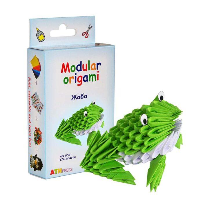 Модулно оригами Жаба Modular Origami Frog кутия и жаба
