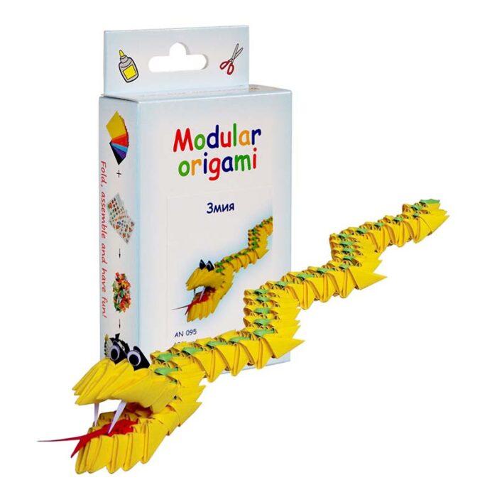 Модулно оригами Змия Modular Origami Snake кутия и змия