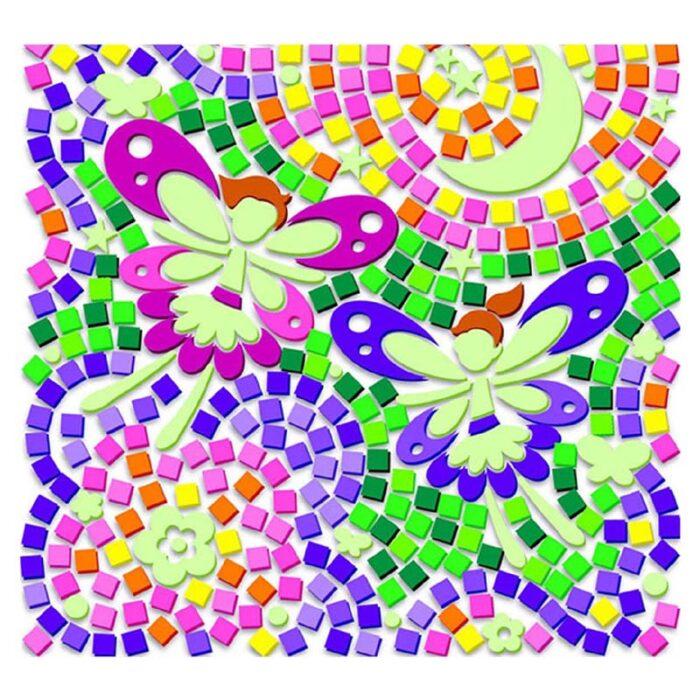 Мозайка за стъкло светещи фей Window Mosaic Glow Fairy подредена