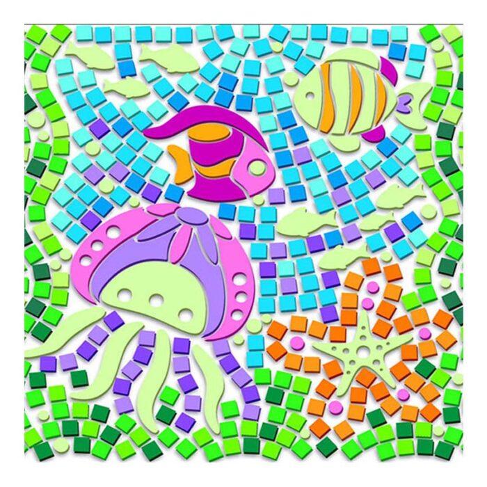 Мозайка за стъкло светещо морско дъно Window Mosaic Glow Sealife подредена