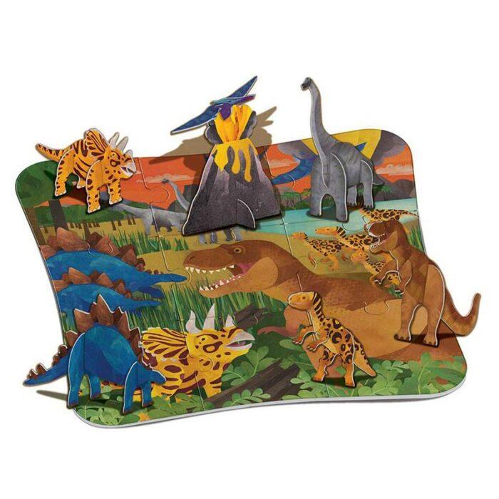 Образователен комплект 3D Floor Puzzle Dinosaurs 4M Триизмерен пъзел динозаври