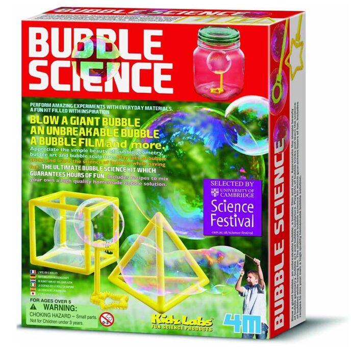 Образователен комплект Bubble Science 4M Наука за мехурите кутия