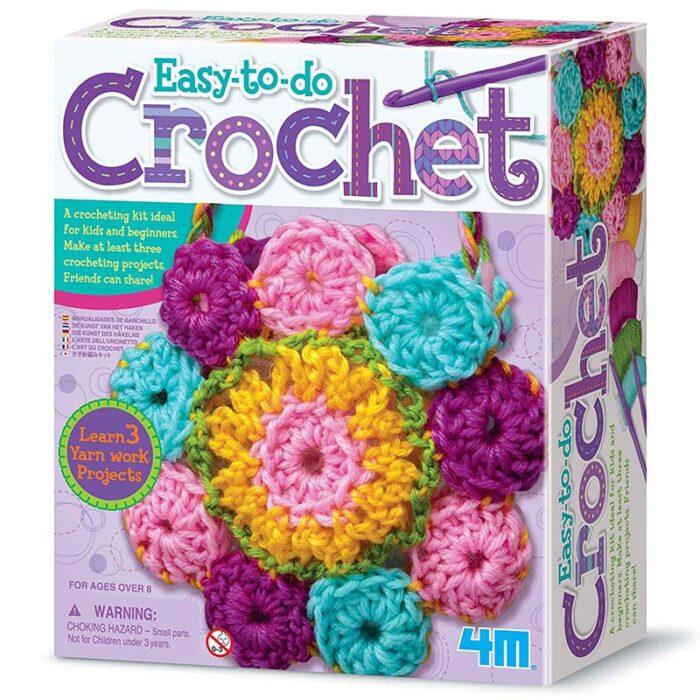 Образователен комплект Crochet 4M Плетене на една кука кутия