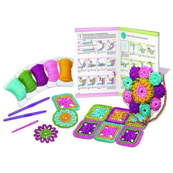 Образователен комплект Crochet 4M Плетене на една кука указания