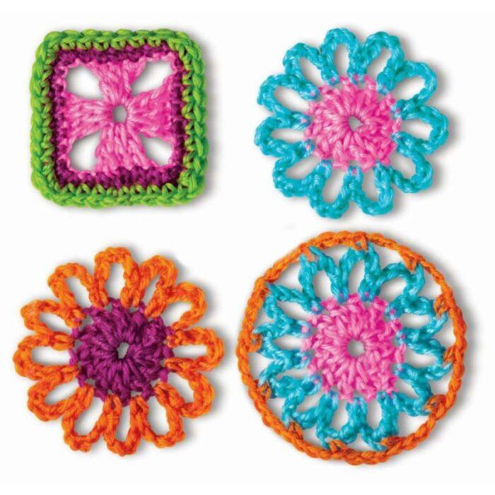 Образователен комплект Crochet Art 4M Плетене на една кука каре