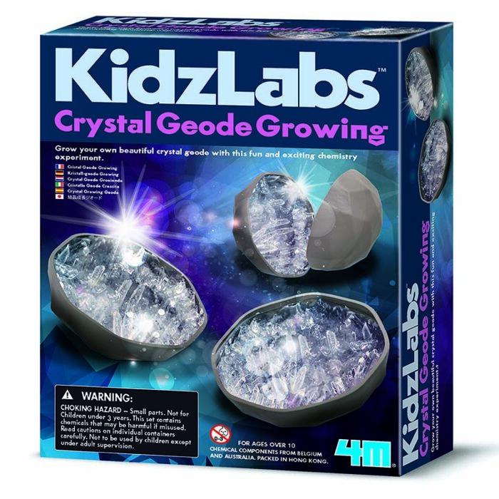 Образователен комплект Crystal Geode Growing 4M Отглеждане на геодинови кристали кутия