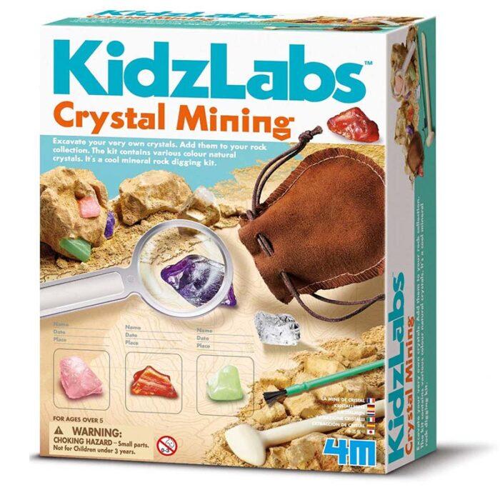 Образователен комплект Crystal Mining Изкопай кристални минерали кутия