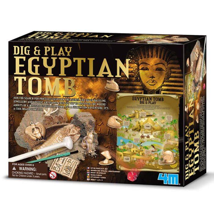 Образователен комплект Dig and Play Egiyptian Tomb 4M Египетска гробница кутия