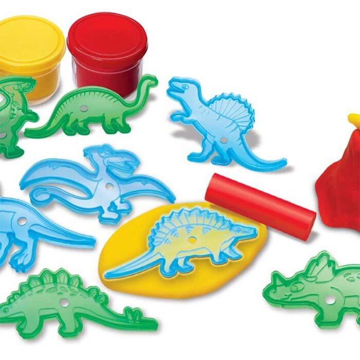 Образователен комплект Dinosaur Dough 4M Динозаври от пластилин формички