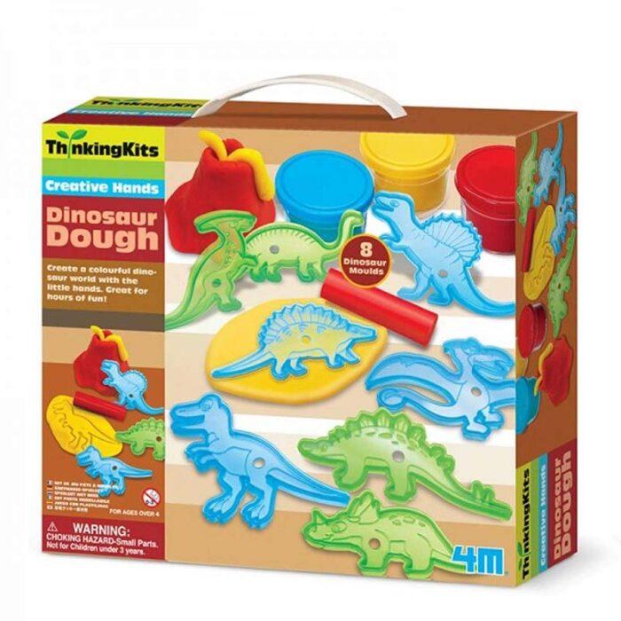 Образователен комплект Dinosaur Dough 4M Динозаври от пластилин кутия