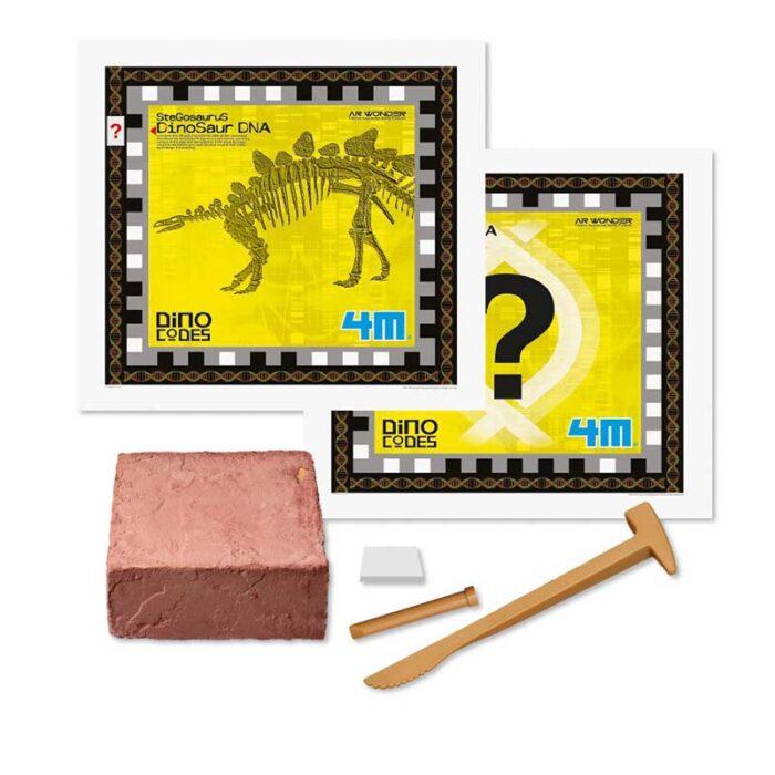Образователен комплект Donosaur DNA Stegosaurus 4M ДНК на Стегозавър съдържание