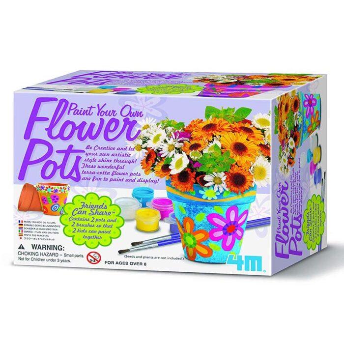 Образователен комплект Flower Pots 4M Саксии кутия