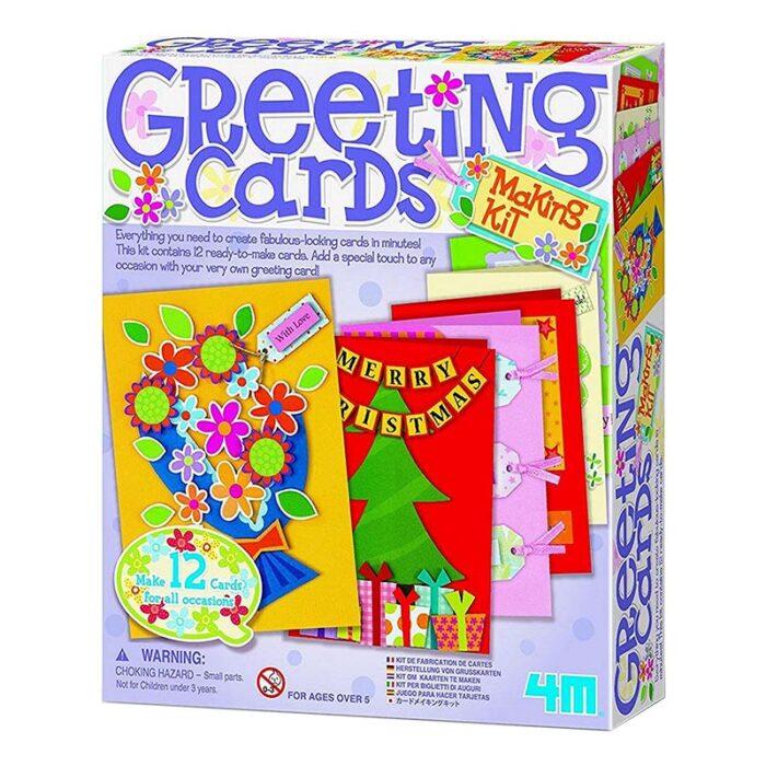 Образователен комплект Greeting Cards 4M Поздравителни картички кутия