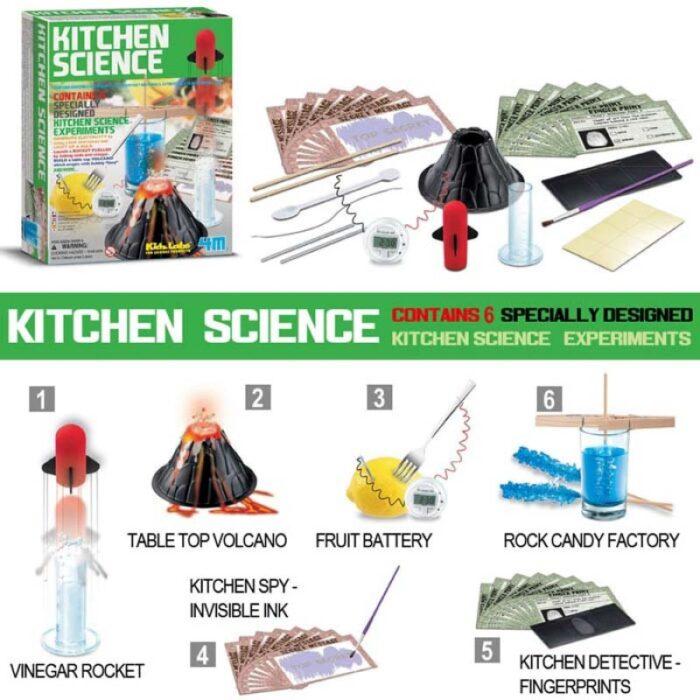 Образователен комплект KidzLabs Kitchen Science 4m Експерименти