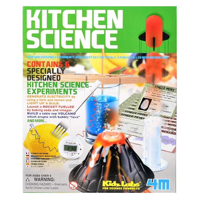 Образователен комплект KidzLabs Kitchen Science 4m Експерименти в кухнята кутия