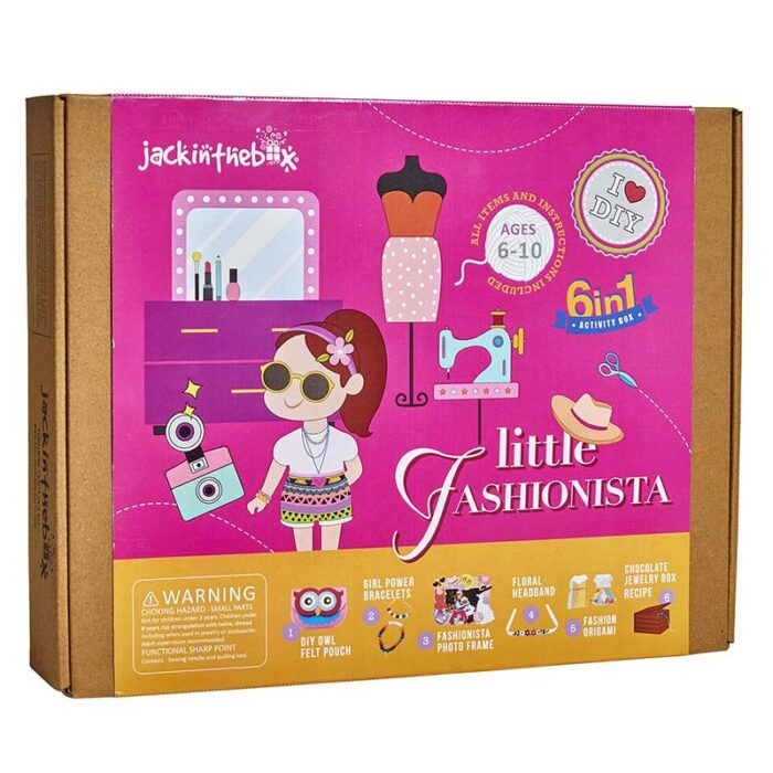 Образователен комплект Little Fashionista JackInTheBox Модна икона 6 в 1 кутия лице